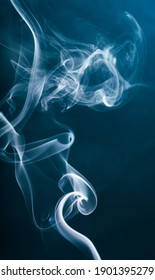 smoke from the incense stick aroma   isolated on background