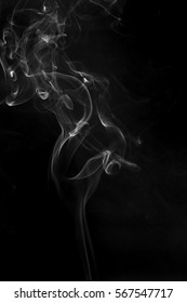 Smoke from incense.Simulated to smoke from hot food.