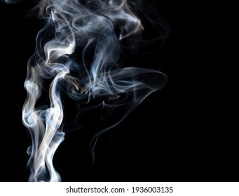 Smoke isolated on black background. Abstraction