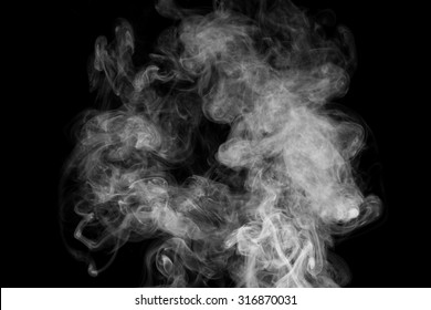 Smoke isolated on dark background