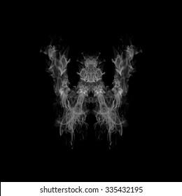 Smoke letter W.