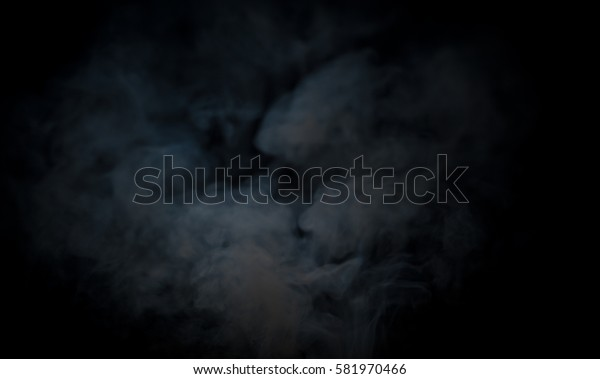 Smoke on a black background.