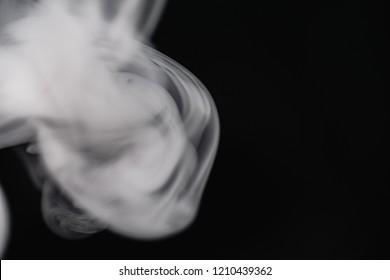 Smoke On Black Background Close-Up