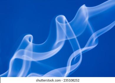 Smoke on a blue background