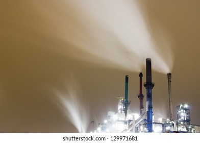 Smoke originating from an industrial plant