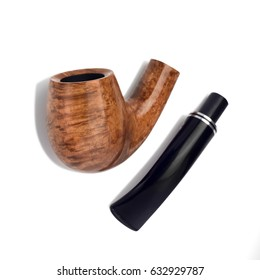 Smoke pipe on the white background