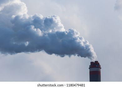 Smoke from the pipes of the factory