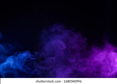 Smoke with shiny glitter particles abstract background