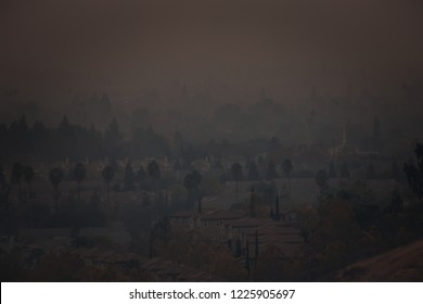 Smoke in South San Jose from the Camp Fire