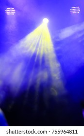Smoke from stage lights