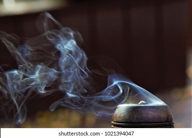 Smoke from tobacco pipe-urban exploration
