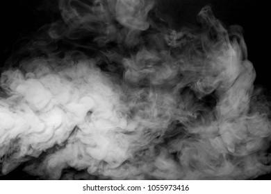 smoke vapor white isolation black blackground