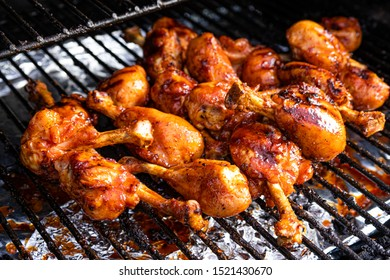 Smoked chicken on the bbq