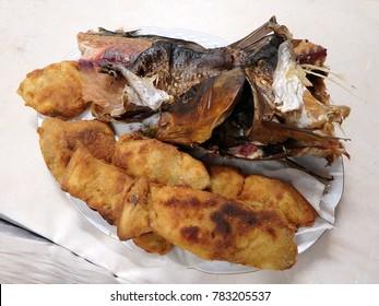 Smoked and fried carp - traditional Slovak Christmas dishes