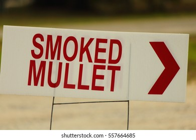 SMOKED MULLET SIGN