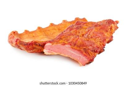 Smoked Pork Edges isolated on white background