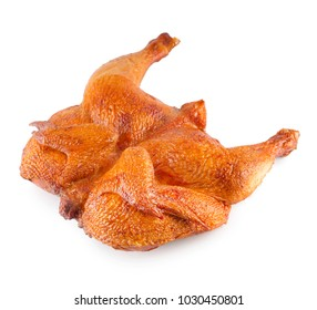 Smoked poultry isolated on white background