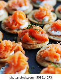 Smoked Salmon Canape for Christmas celebration.