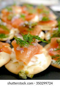 Smoked Salmon and Cracker Appetizer