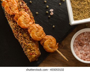 Smoked Salmon Steak with Lentil