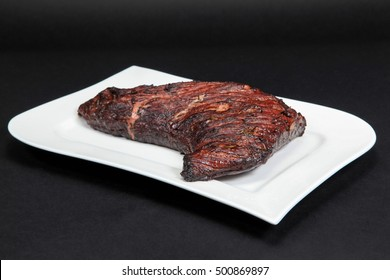 Smoked tri-tip of a US Black Angus beef.