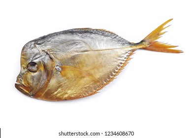 Smoked vomer fish on white isolated background