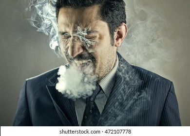 Smoker Man Portrait