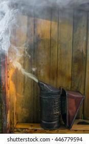 Smoker and smoke for apiary.