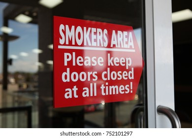 Smokers Area Sign