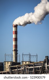 Smokes over power plant in Poland