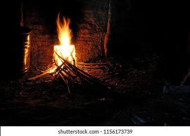 ฺฺBonfire in the smokestack