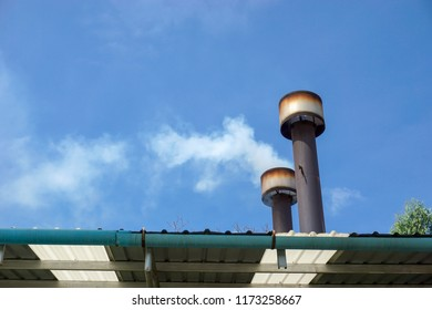 Smokestack is the tube for the air emission of small incinerator