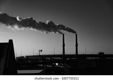 Smokestacks in Milwaukee