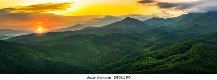 Smokey Mountains sunset