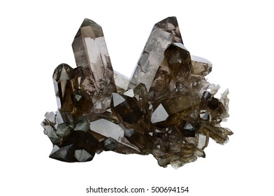 Smokey quartz from Zinggenstock, Berner Oberland, Switzerland.