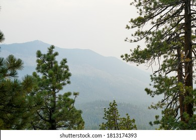 Smokey skies in Lake Tahoe caused by fires in California