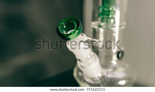 smoking accessories for wee pot close-up soft focus effect