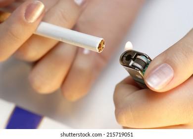 Smoking. Bad Addict.