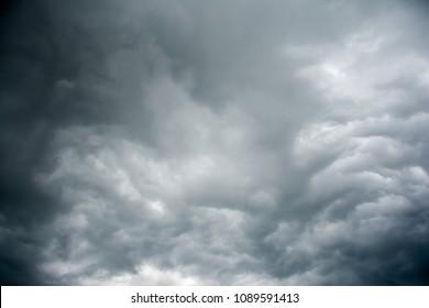 smoking black cloud on strom