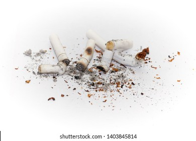 Smoking buds, burn out cigarettes