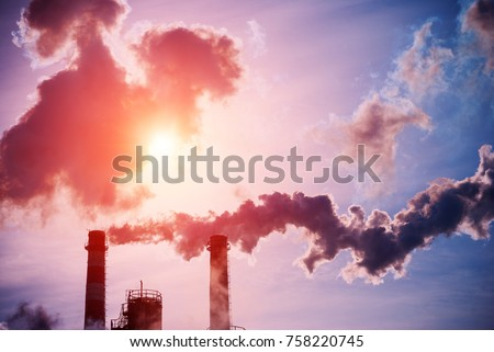 Smoking Chimneys Coal Fired Power Plant Stock Photo (Edit