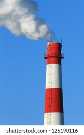 smoking chimneys of the factory