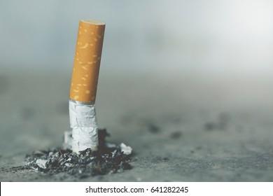 smoking a cigarette.