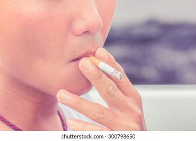Smoking cigarette vintage