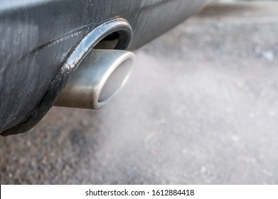 Smoking exhaust from a car