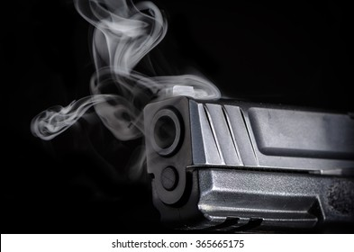 Smoking Gun - Crime Copy Space Background