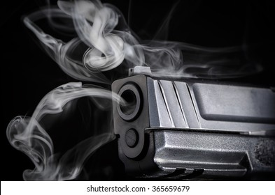 Smoking Gun - Crime Evidence Concept