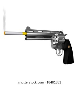 The Smoking Gun A rendered illustration of a smoking gun.