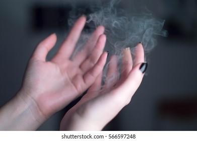 smoking hands