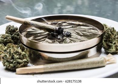 Smoking Marijuana Joint - Legal Cannabis